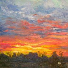"""Joyful Sunset""  Robie Benve Art"