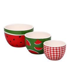 Take a look at this DEI Watermelon Nested Bowls Set by Dennis East International on #zulily today!