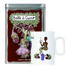 Boîte à Cacao et mug assorti
