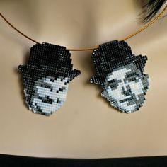 Laurel and Hardy portrait pendants by CatsWire.deviantart.com on @DeviantArt