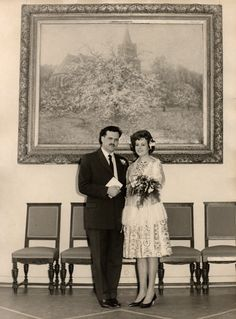 28-02-1961 trouwdag Pap en Mam