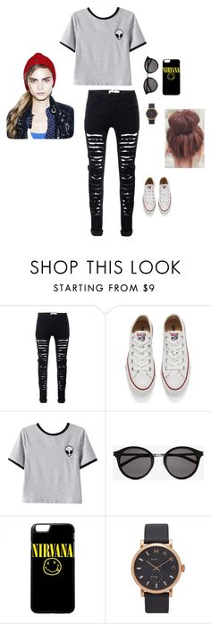"""""""Untitled #34"""" by lysndrsp on Polyvore featuring Converse, Chicnova Fashion, Yves Saint Laurent and Marc Jacobs"""