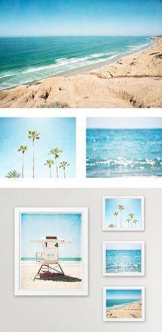 California Beach Photography by beach photographer, Carolyn Cochrane. Beach photograph prints and canvas wall art.