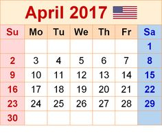 Image result for APRIL 2017 CALENDAR PRINTABLE