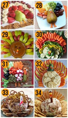 Fun Thanksgiving Food Ideas & Turkey Treats Looking for some fun and creative food ideas for Thanksgiving? We've rounded up over 50 of the best turkey treats - your kids are sure to gobble them up! - Turkey Trays for Thanksgiving Dinner- how FUN! Thanksgiving Snacks, Thanksgiving Decorations, Thanksgiving Birthday, Happy Thanksgiving, Hosting Thanksgiving, Decorating For Thanksgiving, Sides For Thanksgiving Dinner, Turkey Birthday Party, Thanksgiving Vegetables