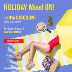 👒👓👙👒🌞☀ Tot ce ai nevoie vara asta gasesti pe FashionDays cu -30% reducere. Introdu codul HOLIDAY30 si fa-ti bagajele de vacanta!!! Nu uita de cashback-ul de 4% oferit de Cashback Shopping !!!!  #soare #vacanta #reducere #cashback #baniinapoi #fashiondays