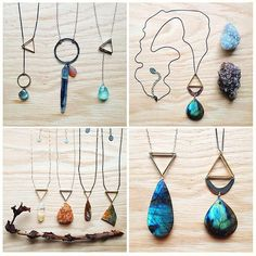 simple necklaces featuring impeccable stones by •hush• △▽△▽ ELEMENTALITY