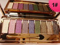 New women 9 colors diamond bright colorful makeup eye shadow super make up set flash Glitter eyeshadow palette with brush Alternative Measures