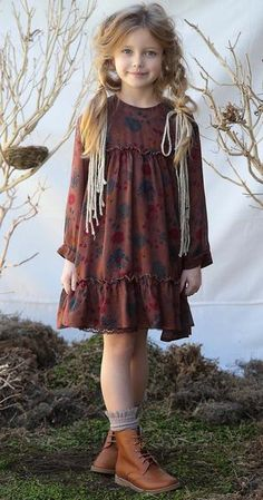 Winter Dresses for Girls Particularly finely processed dresses with lace, different fabrics and embroidery require special care, primarily by hand. Winter Outfits For Girls, Kids Winter Fashion, Winter Dress Outfits, Casual Dress Outfits, Kids Outfits, Little Girl Models, Little Girl Fashion, Toddler Fashion, Kids Fashion