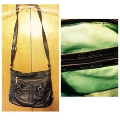 Stone & Co. black leather bag Stone & Co genuine black leather. A few minor signs of wear. Slight piling on lining. H 9 in. X W 11 in. x D 3.5 in. Strap drop is 20 in. adjustable. Stone & Co. Bags Shoulder Bags