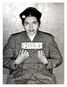 Rosa parks  #StrongWomen #RosaParks Poster Pictures, Cool Halloween Costumes, Women Civil Rights, Rosa Parks Pictures, Montgomery Alabama, Martin Luther King, Mug Shots, Black History Month, Picture Photo