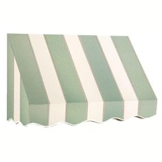 AWNTECH 6 ft. San Francisco Window/Entry Awning (56 in. H x 48 in. D) in Olive/Tan Stripe, Green