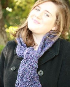The Jennifer Scarf in Heatherly Purple via Etsy.