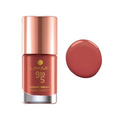 Lakme 9 to 5 Long Wear Nail Color, Rust Project, 9 ml