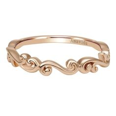 Pretty rose gold ring.