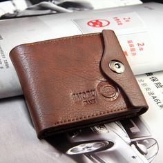 Mens Genuine Cowhide Leather Credit//ID Card Holder Bifold Wallet Slim Purse Gift