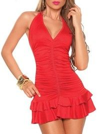I think you'll like Red Blends Elegant Ladies V-neck Sexy Short Length Hot Sale Slim Dress One Size ALYDY-N028-24Red403-2. Add it to your wishlist!  http://www.wish.com/c/53338afb220e680c6c9343b5