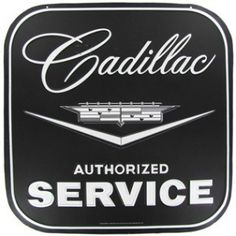 Cadillac Service Die Cut Tin Sign⎜Open Road Brands