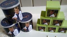 Pringles met gepersonaliseerde wikkel en doosjes met foto