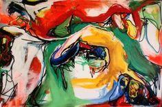 Nr 80 - 150 x 100 cm. Akryl på lærred. Et original maleri af Adam Sandenholt