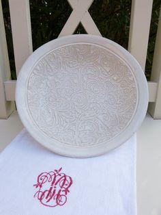 Schale mit Muster, weiß, Keramik, Ornamente