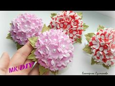 Foam Sheet Crafts, Foam Crafts, 3d Paper Crafts, Diy Crafts For Gifts, Crepe Paper Flowers Tutorial, Fabric Bowls, Flower Video, Kanzashi Flowers, Ribbon Work