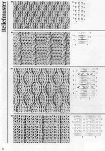 "Photo from album ""Burda узоры"" on Yandex. Crochet Stitches Chart, Crochet Diagram, Crochet Motif, Knitting Stitches, Knitting Patterns, Crochet Patterns, Gilet Crochet, Crochet Cable, Crochet Bedspread Pattern"