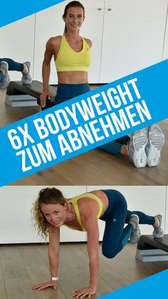 Die 6 besten Bodyweight-Übungen zum Abnehmen Your goals are fat loss, weight loss on the stomach, toning the body? Bodyweight training is the ideal workout for losing weight. Fitness Workouts, Elyptical Workout, Yoga Fitness, 30 Day Fitness, Workout Videos, At Home Workouts, Fitness Motivation, Health Fitness, Fitness Studio