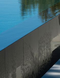 Infinity pool edge detail. By John Pawson.