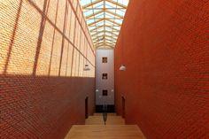 Central stairway of the Bonnefanten Museum in Maastricht (Netherlands)