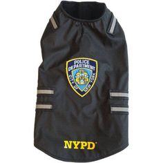 Royal Animals Nypd Dog Vest with Reflective Stripes, Black