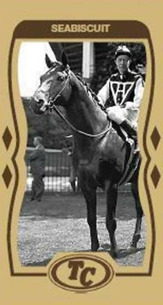 Seabiscuit Playing Card I was always told he was ug-ly all over.I beg to differ!