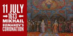 11 July Mikhail Romanov is crowned at the coronation ceremony in Dormition Cathedral Cathedral, Russia, History, Historia, History Activities, Cathedrals, Ely Cathedral