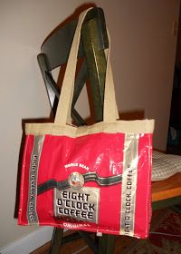 A Ditchin' Time Quilts: Coffee Bags Recycled