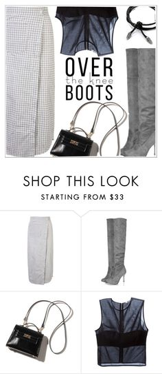 """""""Fall Footwear: Over-The-Knee Boots"""" by teoecar ❤ liked on Polyvore featuring T By Alexander Wang"""