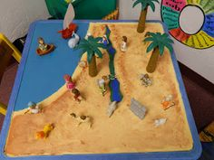 Child's Table....Bible Land, Interactive Map.  :)