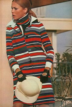 French Elle, March 1966, jacket by Sonia Rykiel, driving gloves by Guibert
