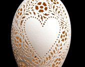 Hand-Carved Victorian Lace Eggs