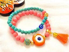 SALE----  GYPSY  DIVA  bracelet --- bohemian bracelet-- evil eye bracelet -- amulet bracelet- protection bracelet - pinned by pin4etsy.com