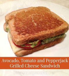 This Avocado and Tomato Grilled Pepperjack Sandwich is addicting!! #SavingDollars