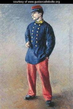 Un soldat - Gustave Caillebotte - www.gustavcaillebotte.org