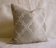 "Pair of Champange Lattice Pillow Covers 18"" x 18"" $64"