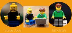 FamousBrick - Berühmtheiten aus Lego Steve Jobs und Bill Gates