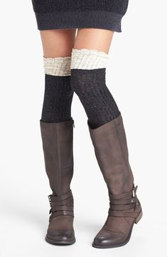One Size Girls Womens Israel Retro 1970s Style Over Knee Thigh High Stockings Cute Socks