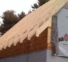The rafter tails are not in alignment with each and every roof rafter. To keep an authentic historical look, space the rafters further apart than current framing codes allow. Older structures often had 20″, 24″ or greater spacing between framing members. Today's conventional standard is 16″ o.c., which is a dead giveaway that it's new construction. We want it to have the feeling of being old.
