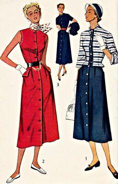 1950s Vintage Dress and Jacket Pattern  by ShellMakeYouFlip