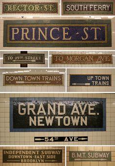 New York City Subway Signs