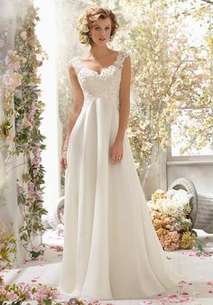 Cheap wedding dresses less than Buy Quality dress wedding gown directly from China wedding dress discount Suppliers: Simple Lace Chiffon Beach Wedding Dress With Applique Beading V Neck Back White Bride Bridal Gown vestido de noiva casamento Wedding Dress Train, Wedding Dress Chiffon, Long Wedding Dresses, Wedding Dress Styles, Bridal Dresses, Wedding Gowns, Lace Wedding, Lace Chiffon, Dress Lace