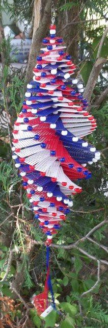 Patriotic Plastic canvas Whirligig wind spinner by TheGiftMarket, $18.00