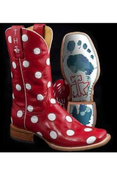 Red Polka dot boots